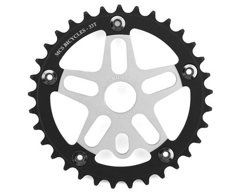 MCS Alloy Spider & Chainring Combo (Silver/Black) (33T)