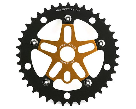 MCS Alloy Spider & Chainring Combo (Gold/Black) (39T)