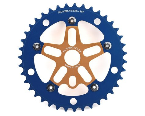 MCS Alloy Spider & Chainring Combo (Gold/Blue) (39T)