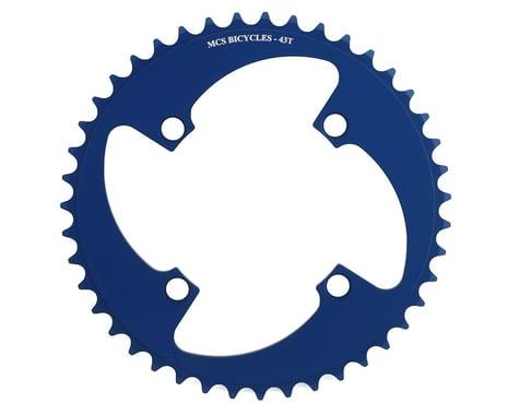 MCS 4-Bolt Chainring (Blue) (43T)