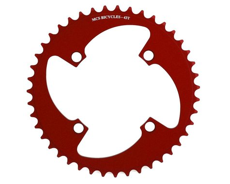 MCS 4-Bolt Chainring (Red) (43T)