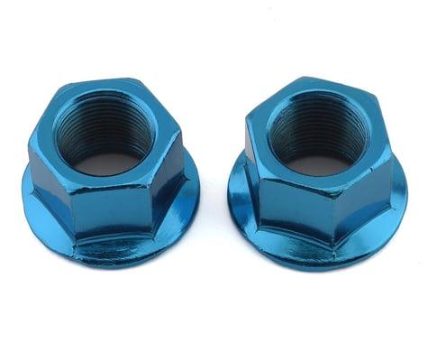 MCS Hub Axle Nuts (14mm) (ED Blue) (Pair)