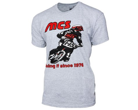 MCS Retro 1976 Short Sleeve T-Shirt (Grey) (XL)