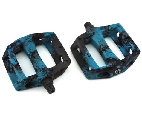 "Mission Impulse PC Pedals (Black/Blue Splash) (9/16"")"