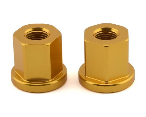 """Mission Alloy Axle Nuts (Gold) (3/8"""")"""