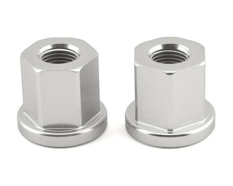 """Mission Alloy Axle Nuts (Silver) (3/8"""")"""