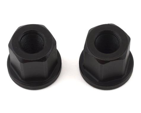 """Mission Steel Axle Nuts (Black) (3/8"""")"""