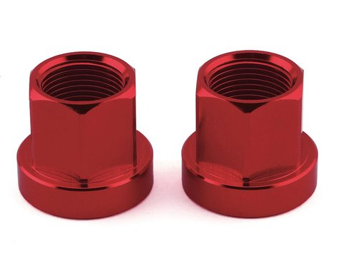 Mission Alloy Axle Nuts (Red) (14mm)
