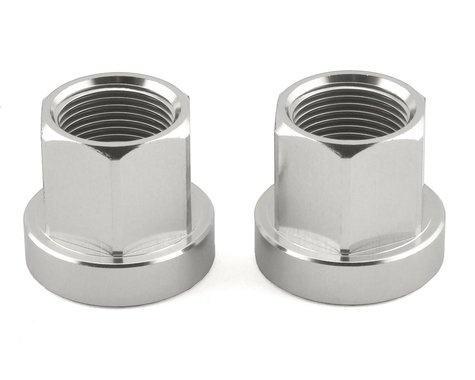 Mission Alloy Axle Nuts (Silver) (14mm)