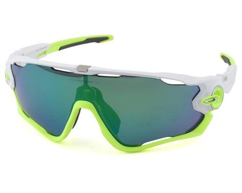 Oakley Jawbreaker Sunglasses (Jade Iridium/Polished White) (Jade Iridium)
