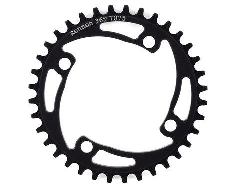 RENNEN 4-Bolt Chainring Non-Threaded (Black) (36T)