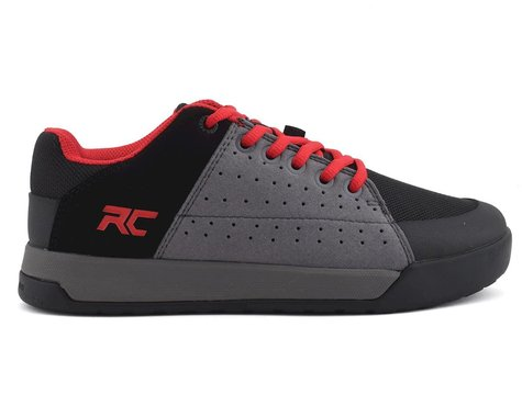 Ride Concepts Youth Livewire Flat Pedal Shoe (Charcoal/Red) (Youth 4)