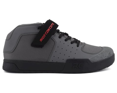 Ride Concepts Wildcat Flat Pedal Shoe (Charcoal/Red) (10)