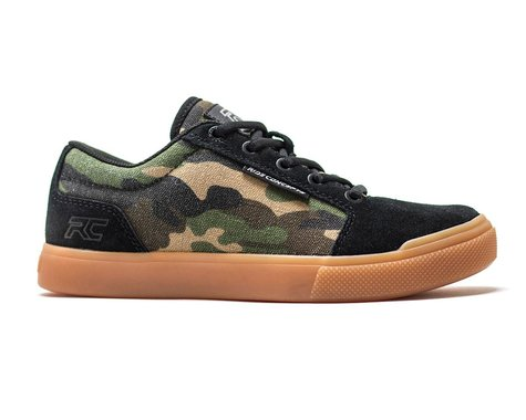 Ride Concepts Youth Vice Flat Pedal Shoe (Camo/Black) (Youth 3)