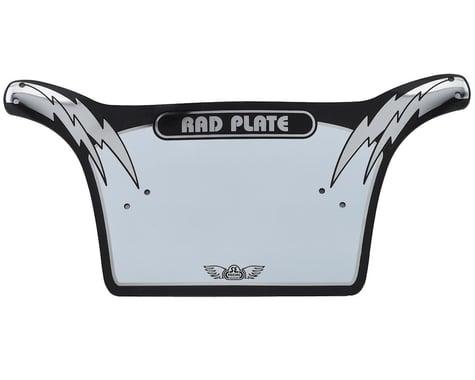 SE Racing Rad Number Plate (Black/Chrome)