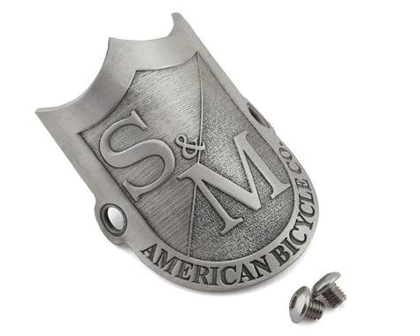 S&M Shield Headtube Badge (Pewter)