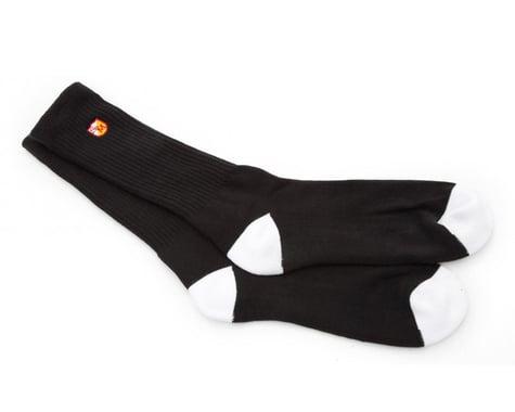 S&M Block Socks (Black) (One Size Fits Most)