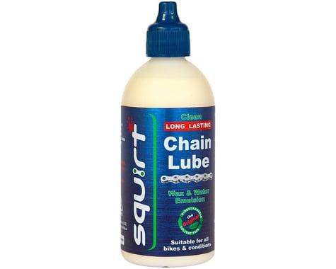Squirt Long Lasting Wax Based Dry Bike Chain Lube: 4oz Bottle