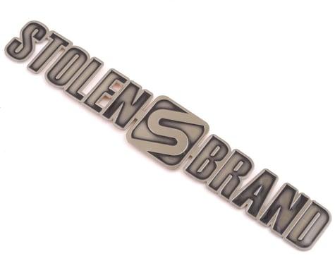 Stolen Brand Metal Badge (Flat) (Aged Silver)