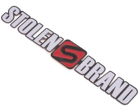 Stolen Brand Metal Badge (Flat) (Black w/ White/Red)