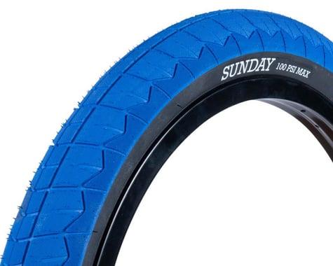 "Sunday Current V2 BMX Tire (Blue/Black) (20"") (2.4"")"