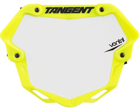 Tangent Ventril 3D Pro Number Plate (Neon Yellow) (L)