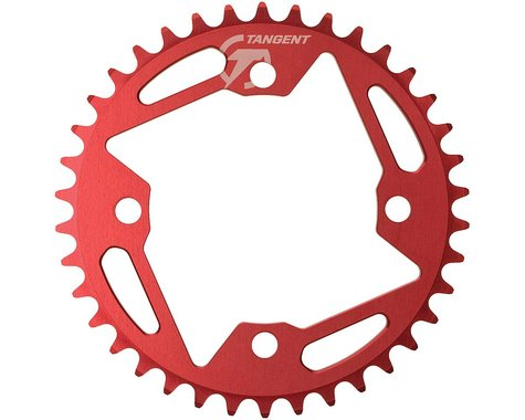 Tangent Halo 4-Bolt Chainring (Red) (43T)