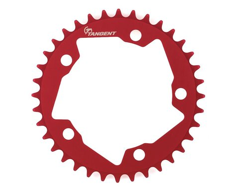 Tangent Halo 5-Bolt Chainring (Red) (36T)