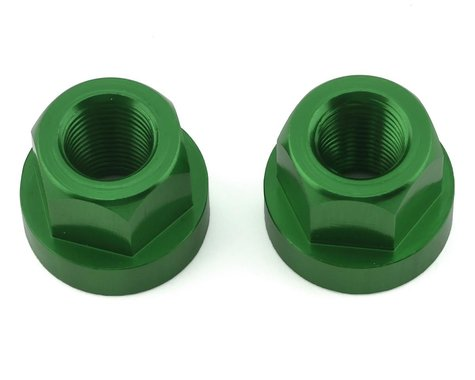 """TNT Hub Axle Nuts (Green) (2) (3/8"""")"""