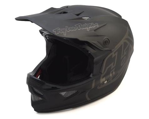 Troy Lee Designs D3 Fiberlite Full Face Helmet (Mono Black) (L)