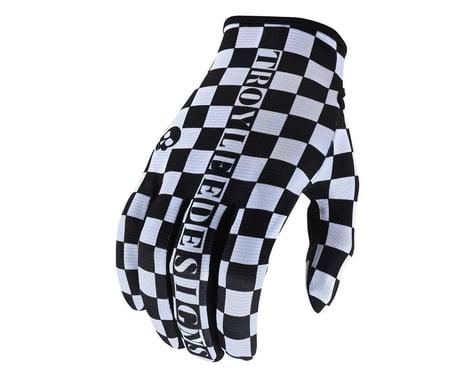 Troy Lee Designs Flowline Gloves (Checkers White/Black) (S)