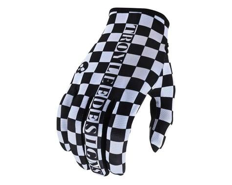 Troy Lee Designs Flowline Gloves (Checkers White/Black) (L)