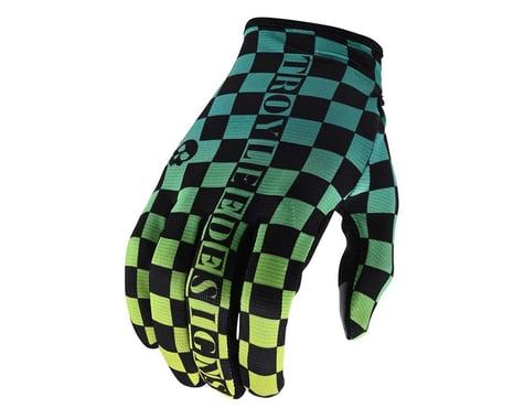 Troy Lee Designs Flowline Gloves (Checkers Green/Black) (S)