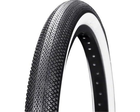 "Vee Tire Co. Speedster BMX Tire: 20"" x 1-3/8"" Folding Bead Black Tread White Sid"