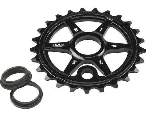 We The People Patrol Sprocket 33t Black 23.8mm Spindle Hole With Adaptors for 19