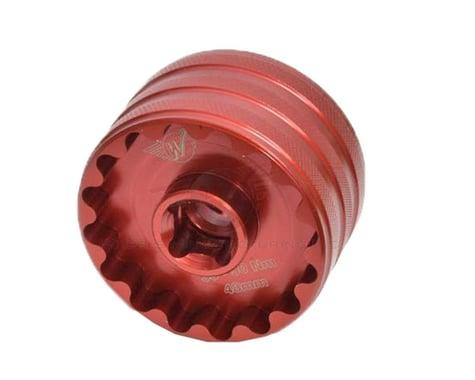 Wheels Manufacturing Bottom Bracket Socket Tool (Red) (48.5/44mm 16-Notch Cups)
