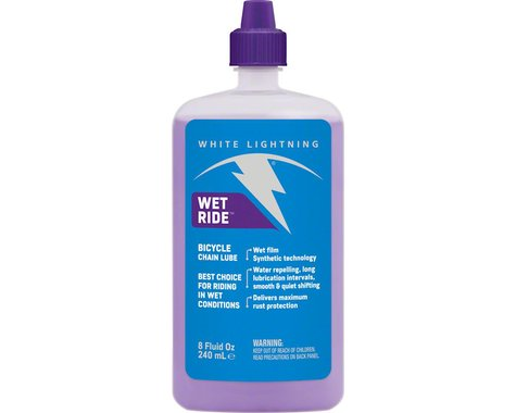 White Lightning Wet Ride Lube, 8oz Drip